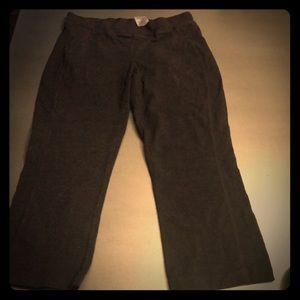 Danskin athletic pants leggings crop stretch gray